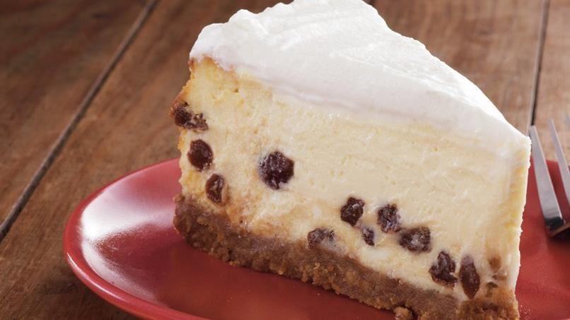Sour Cream-Rum Raisin Cheesecake