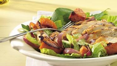 Grilled Chicken and Squash Salad with Lime-Taco Dressing