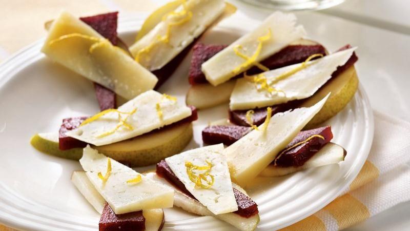Spanish Fruit and Cheese Stacks