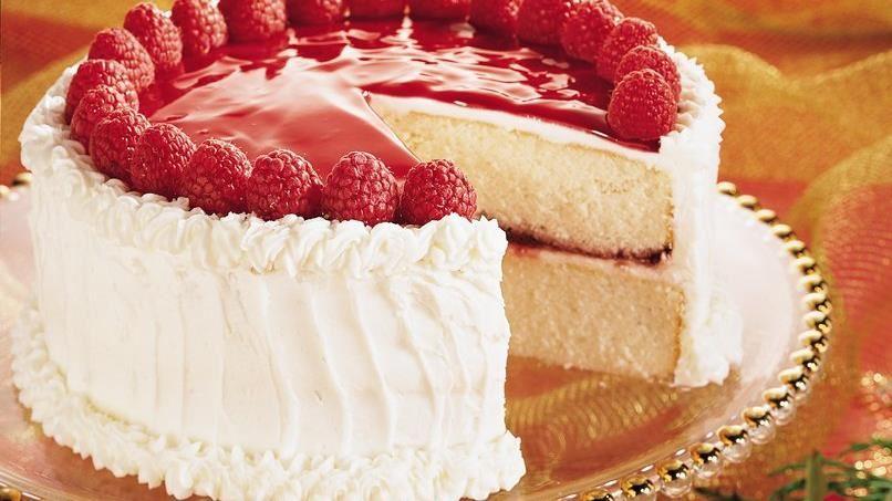 Raspberry Mirror Cake