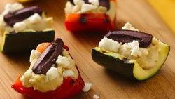 Hummus-Filled Roasted Vegetables