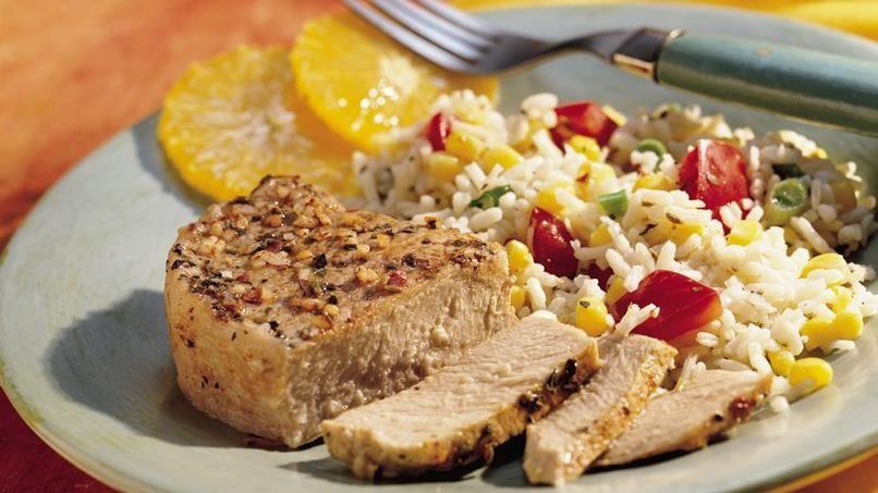 Grilled Southwest Pork Packs