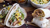 Slow-Cooker Enchilada Pork Tacos with Sweet-Corn Slaw