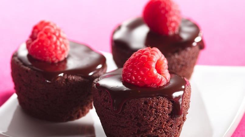 Ganache-Topped Brownie Bites