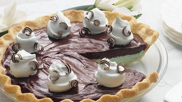 Creamy Chocolate-Mint Pie