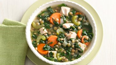 Smoked Turkey and Lentil Vegetable Soup