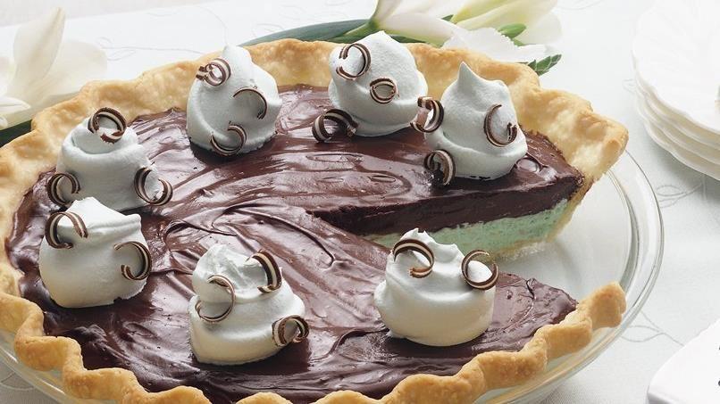 Creamy Chocolate-Mint Pie