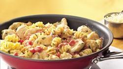 Cheesy Tomato-Chicken Skillet