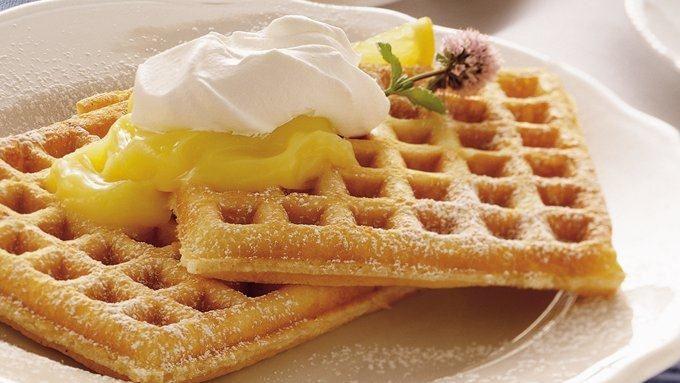 Lemon Cream Pie Waffles