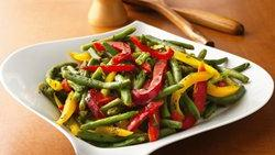 Green Beans with Colored Peppers (Crowd Size)