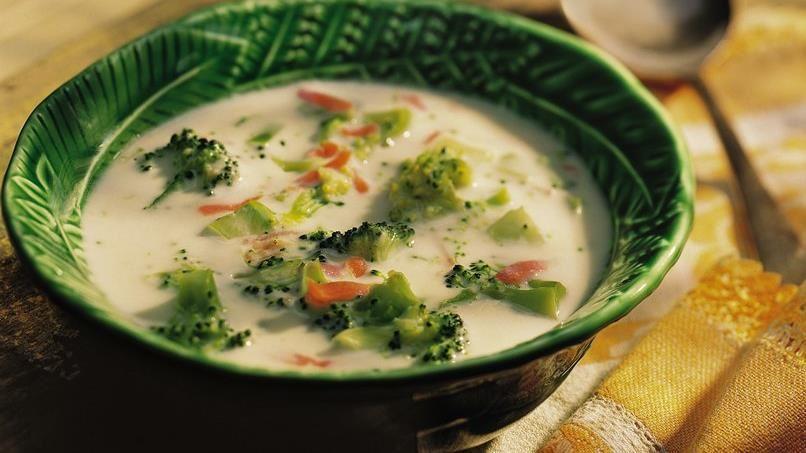Cheesy Broccoli-Potato Soup