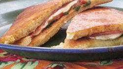 Salami-Tomato Panini