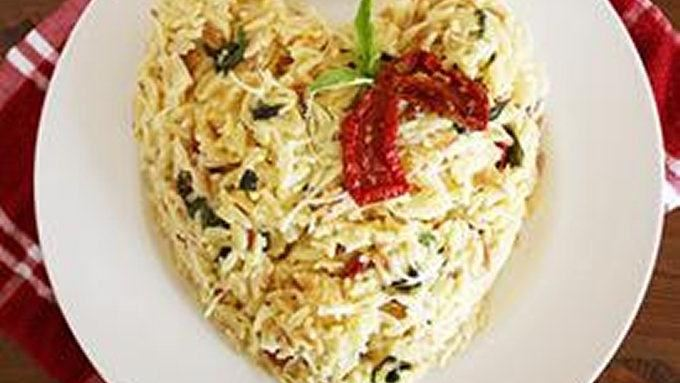 Orzo with Basil, Parmesan and Sun-Dried Tomatoes recipe - from ...