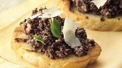 Mushroom-Olive Bruschetta