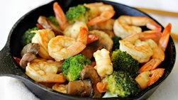 Salteado Fácil de Camarones y Brócoli