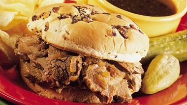 Hot Beef Sandwiches Au Jus