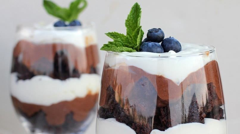 Triple-Chocolate Brownie Trifle