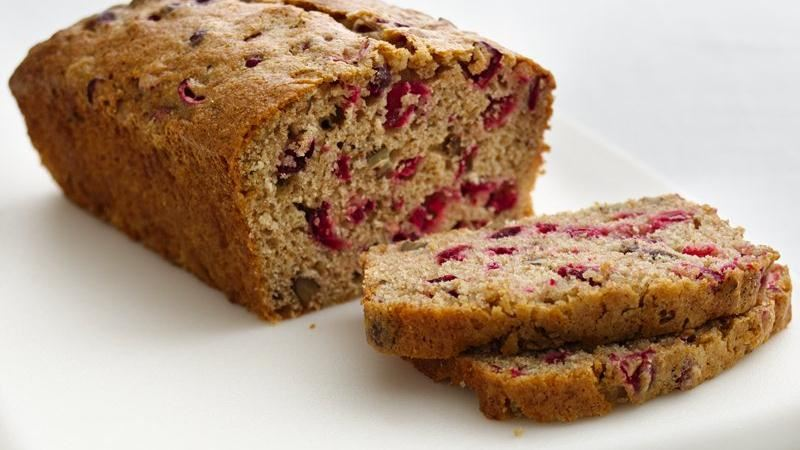 Healthified Cranberry-Nut Bread