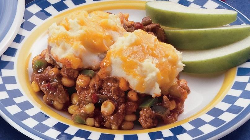 Potato-Topped Sloppy Joe Casserole