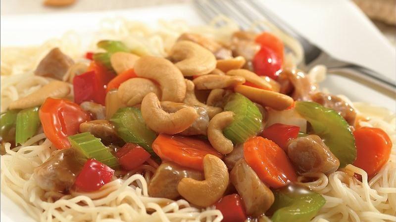 Cashew Pork Chow Mein
