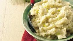 Leek and Garlic Mashed Potatoes