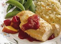Grilled Raspberry-Peach Chicken