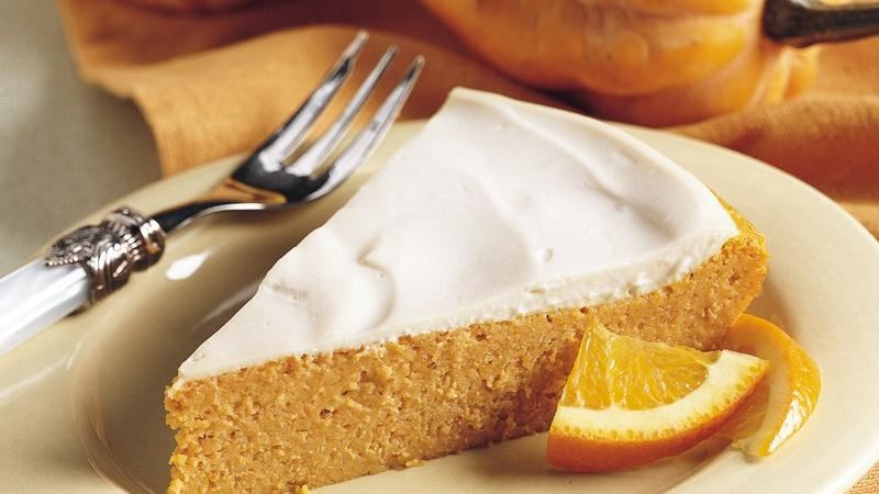 Impossibly Easy Creamy Topped Pumpkin Cheesecake