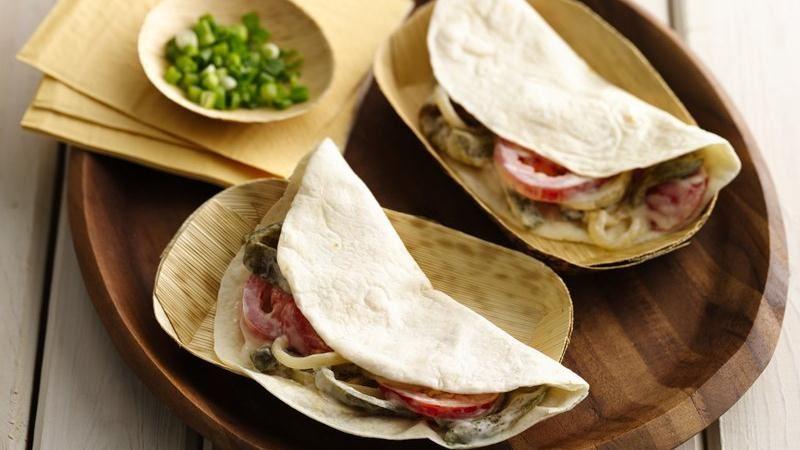 Poblano-Onion Tacos