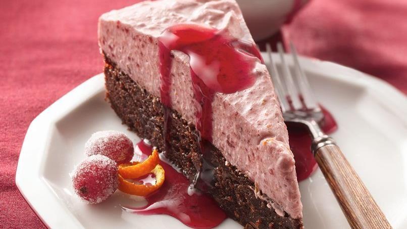Cranberry Mousse Torte