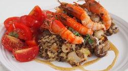Quinoa, Shrimp and Mushroom Casserole