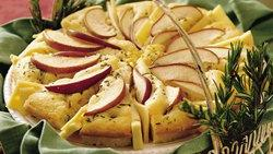 Pear and Rosemary Focaccia with Fontina Cheese