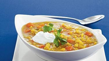 Split Pea Soup with Sour Cream