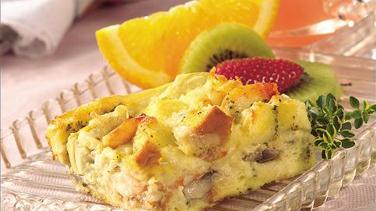 Seafood and Cheese Brunch Bake