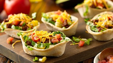 Mini Taco Salad Boats