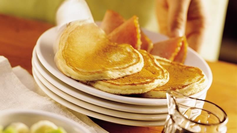 Maple-Sour Cream Pancakes