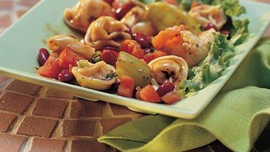 Antipasto Tortellini and Tomato Salad