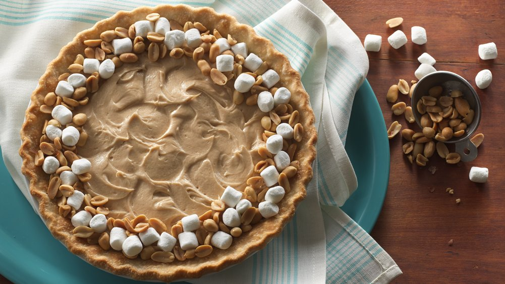 Salted Peanut and Marshmallow Pie