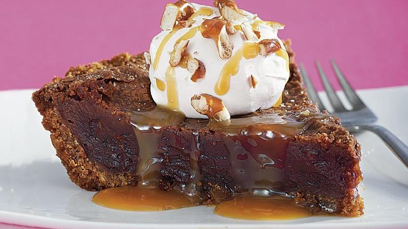 Pretzel Fudge Pie