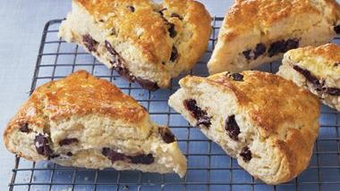 Dark Chocolate Chunk and Cherry Scones