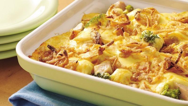 Onion-Topped Turkey Divan