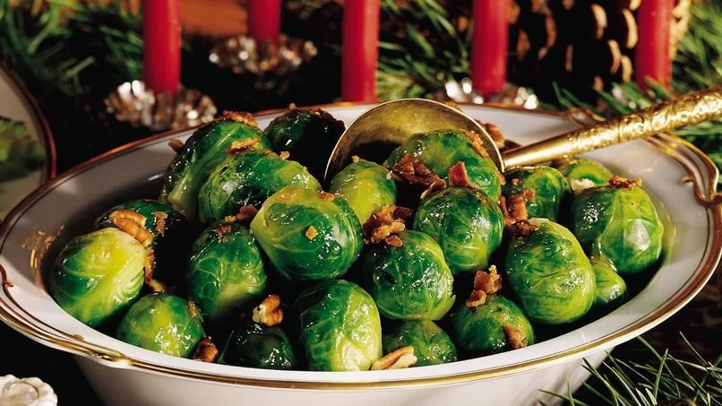 Brussels Sprouts with Bacon and Pecans