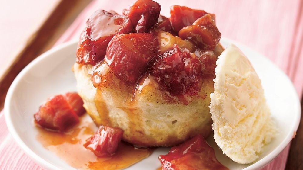 Rhubarb Upside-Down Desserts