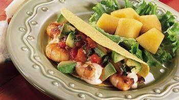 Fiesta Shrimp Tacos with Cucumber Salsa