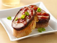 Barbecued Pork Tenderloin with Curried Toast