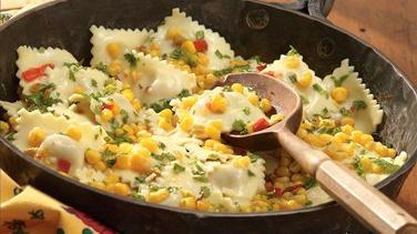 Ravioli With Corn And Cilantro