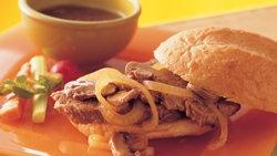 Slow-Cooker Mushroom and Onion Pot Roast Sandwiches