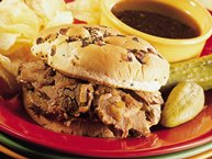 Slow-Cooker Hot Beef Sandwiches Au Jus