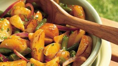 Grilled Potato-Green Bean Salad