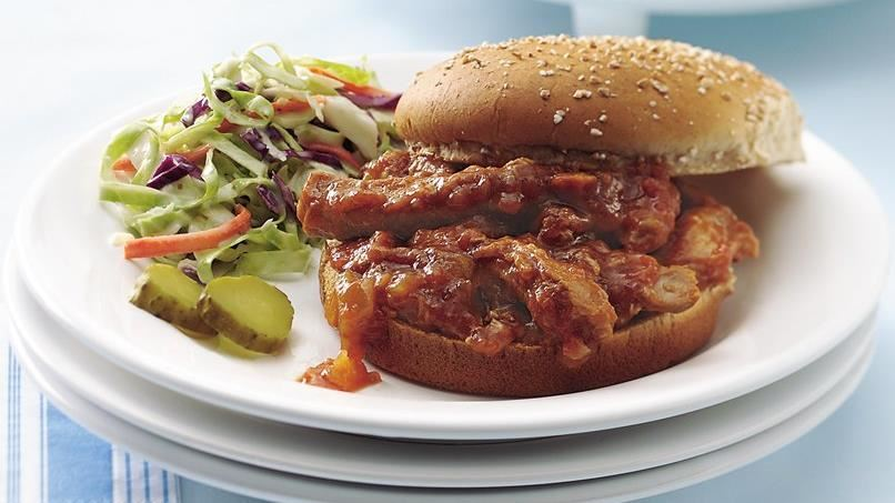 Slow-Cooked Barbecued Pork on Buns