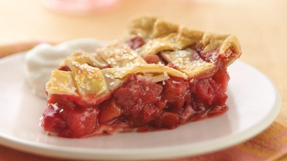 Lattice Top Strawberry Rhubarb Pie recipe from Pillsbury.com